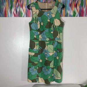 Boden tank floral weave pattern dress w/ pockets